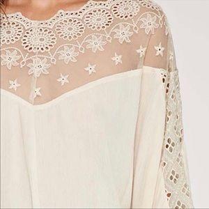 Love Stitch Tops - Lovestitch Boho Lace Kimono style Top